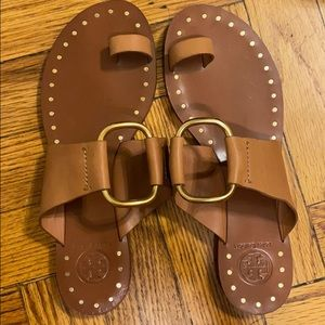 Tory Burch Brannan Studded Sandals Size 6.5